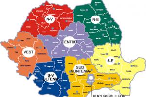regiunile romaniei